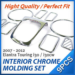 INTERIOR-CHROME-MOLDING-SET-FIT-HYUNDAI-2007-2011-Elantra-Touring-i30