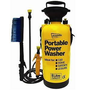 CAR-VALETING-CLEANING-HAND-PUMP-PRESSURE-WASHER-CLEANER-HOSE-BRUSH-PORTABLE-NEW