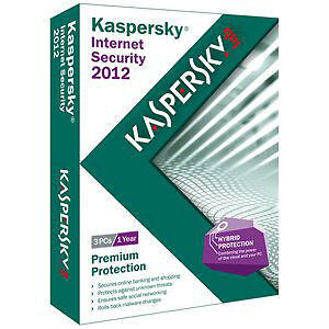 Kaspersky Internet Security 2012 3PC for 1 Year Brand New Retail Box USA 2013