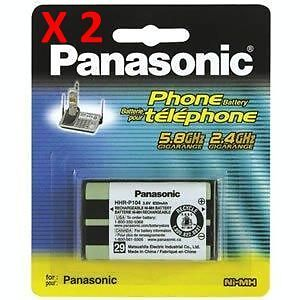 2 X HHR-P104 Ni-MH Replacement Battery For Panasonic Cordless Telephones HHRP104