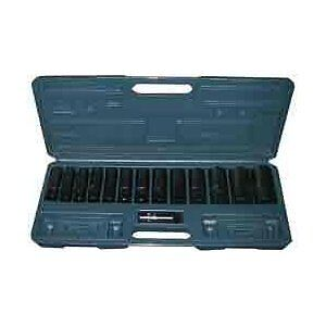 1/2-inch Drive Deep Impact Socket Set - Metric - 15 Pieces