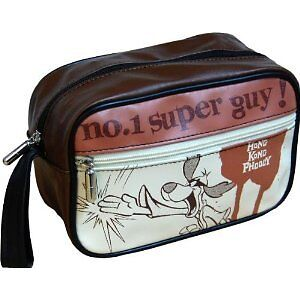 NEW HONG KONG PHOOEY WASH BAG RETRO TOILETRY CASE TRAVEL MENS GIFT SUPER GUY 70S