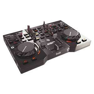 HERCULES DJ CONTROL INSTINCT PORTABLE MIX CONTROLLER TWIN DECK USB POWERED NEW