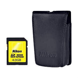 GREAT! Nikon Coolpix case & 4 GB SD card fits S9100 S9300 S8000 S8200 P300 P310