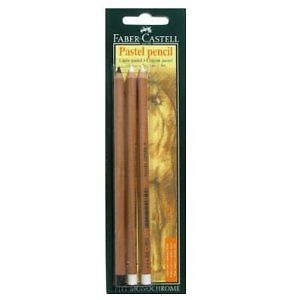 FABER-CASTELL === PITT Pastel Pencils === PACK OF 3