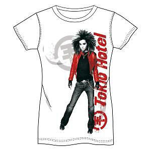 Tokio Hotel T-Shirt Girlie Red Jacket Grösse M