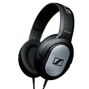 NEW SENNHEISER HD201 DJ STEREO HEADPHONES MP3 IPOD UK
