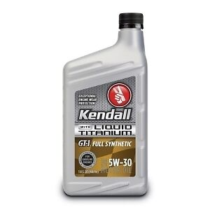 Kendall gt 1 full synthetic motor oil with liquid titanium for Kendall motor oil history