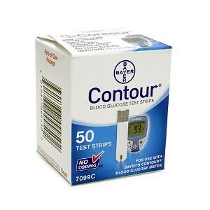 50 BAYER CONTOUR DIABETES TEST STRIPS - FREE SHIPPING!