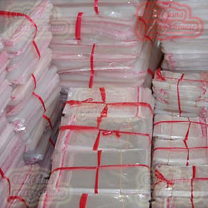 100pcs Clear Self Adhesive Seal Plastic Bags 25x34cm