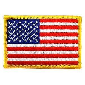 ( 1 ) AMERICAN USA Flag Patch - 2 1/4