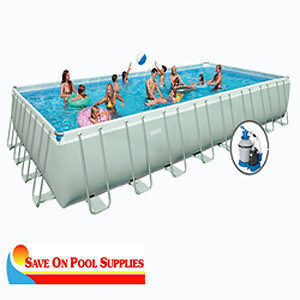 Intex 16 039 x32 039 x52 034 ultra frame rectangular above for Intex pool handler