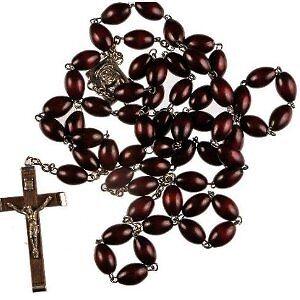 Genuine Brown Cocoa Bead Rosary  |Brown Rosaries