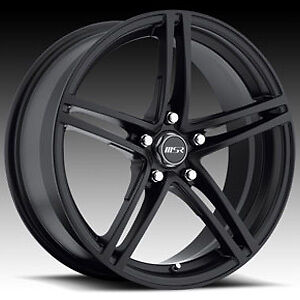 "18"" WHEELS RIMS MSR 048 BLACK & 225-40-18 TIRES TL SEBRING CIVIC TIBURON IS250"