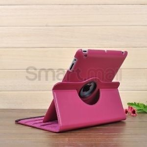 Hot pink or red or blue iPad air rotating 360 degree case