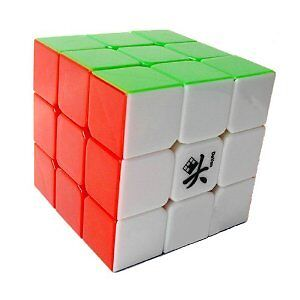 US Seller - Dayan II 2 Guhong Plus V2 3x3 Stickerless 6 Color Speed Cube 3x3x3