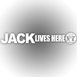 Jack Lives Here Jack Daniels No7 Car Sticker 650mm