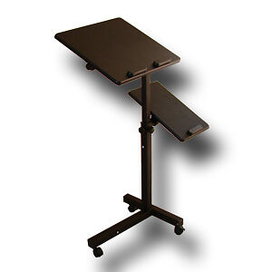Rolling-Laptop-Table-W-Tilltable-Tabletop-Overbed-Desk-TV-Food-Tray-Hospital-PC