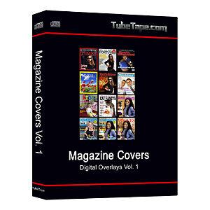 digital magazine cover overlays backdrops templates ebay. Black Bedroom Furniture Sets. Home Design Ideas