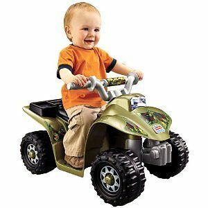 Toddler Power Wheels Camo 4 Wheeler Quad Kids Battery