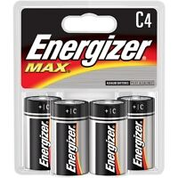 ENERGIZER MAX C4 BATTERIES   (BRAND NEW SEALED)