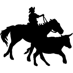 Calf Roping Rodeo Vinyl Decal Your Color Choice Sticker