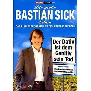 Bastian sick der dativ ist dem genitiv sein tod dvd in schleswig holstein flensburg Der genitiv ist dem dativ