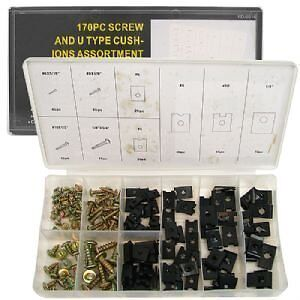 170-Pc-U-CLIP-and-SCREW-KIT-DASH-DOOR-TRIM-SEAT-TRUNK-Speed-Clip-Kit