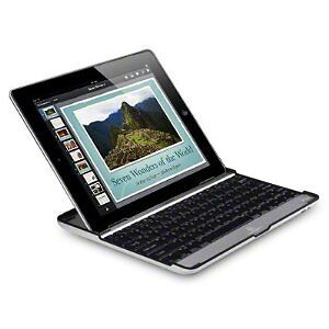 Black Aluminium Bluetooth Keyboard Cover Case Stand for Apple iPad 2