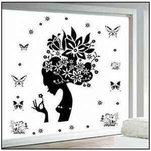 Flower-Fairy-stickers-wall-Decal-Removable-Art-Vinyl-Decor-Home-Kids-Window