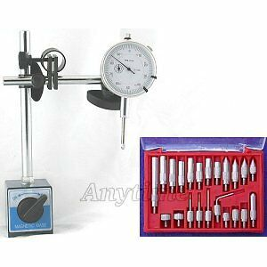 Dial Indicator Magnetic Base Precision Fine + Point Set on Sale