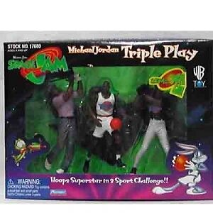 Space-Jam-Michael-Jordan-Triple-Play-Figures-set-New-Playmates-Warner-Bros-NIB