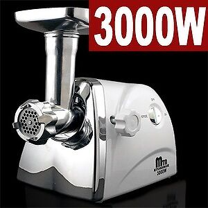 New MTN 3.4 HP 3000W Compact Size Electric Meat Grinder Sausage Stuffer Cutter