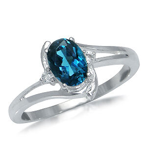REAL-London-Blue-White-Topaz-925-Sterling-Silver-Ring
