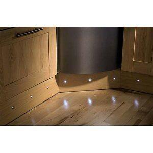 10 led stainless steel kitchen plinth decking marker