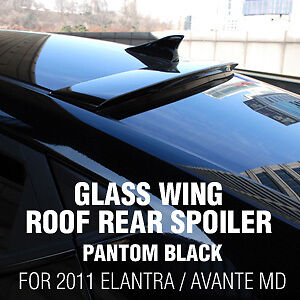 Glass-Wing-Roof-Rear-Spoiler-Pantom-Black-for-HYUNDAI-2011-16-Elantra-Avante-MD