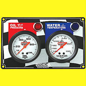 quickcar dual gauge panel oil pressure and water temp with. Black Bedroom Furniture Sets. Home Design Ideas