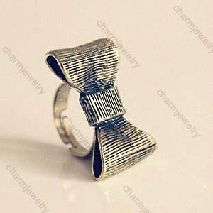 European-retro-lovely-cute-nice-exquisite-bow-ladies-ring-rings-free-shipping