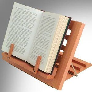 Wooden Reading Rest Book Rest Wood Cook Book Stand Kitchen Recipe Stand Gift