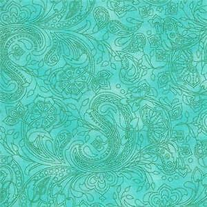 BOHEMIAN-RHAPSODY-TURQUOISE-PAISLEY-Quilt-Fabric