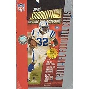 2001 TOPPS STADIUM CLUB NFL FOOTBALL HOBBY BOX