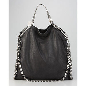 Stella-McCartney-Falabella-Fold-Over-Black-Tote-Bag-Clutch