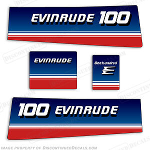 Evinrude 1980 100 Hp Decal Kit - Discontinued Decal Reproductions In Stock