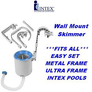 intex deluxe wall mount swimming pool surface skimmer. Black Bedroom Furniture Sets. Home Design Ideas