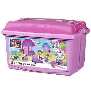 (BNIB)Mega Bloks Mini Bloks Pink Tub(120pcs)
