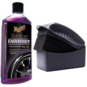Meguiars Endurance Tyre Dressing Gel & Tyre Dressing Applicator Pad