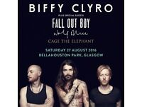 2 tickets for Biffy Clyro at Bellahouston Park on 27th Aug