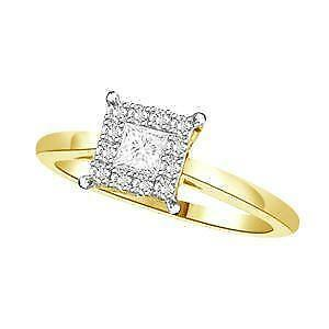 14kt Yellow Gold Diamond Engagement Ring 0.50ct