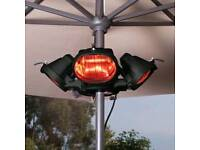 Heatmaster parasol mounted electric patio heater