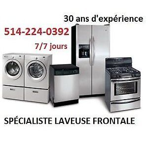 REPARATION LAVEUSE SECHEUSE 514 224-0392 WASHER DRYER REPAIR